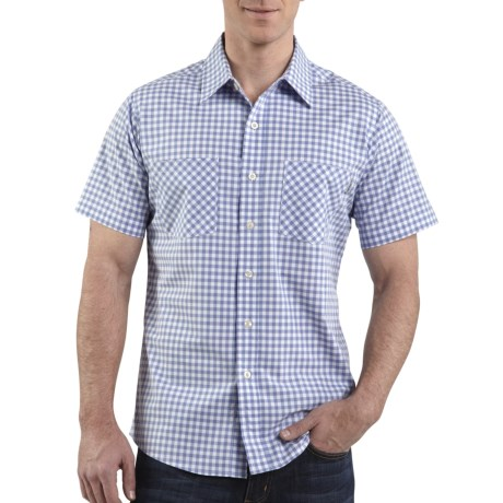 Carhartt Lightweight Plaid Shirt - Short Sleeve (For Men) in Wave Blue