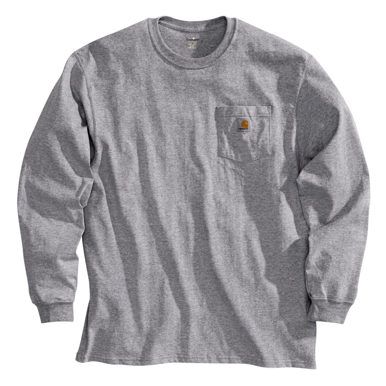 Carhartt lightweight pocket t shirt long sleeve for for Carhartt men s long sleeve lightweight cotton shirt