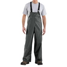 Carhartt Lightweight PVC Rain Bib Overalls (For Men) in Green - 2nds