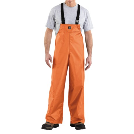 Carhartt Lightweight PVC Rain Bib Overalls (For Men) in Orange