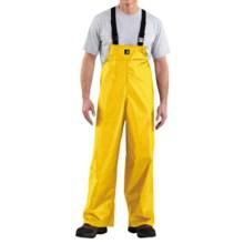 Carhartt Lightweight PVC Rain Bib Overalls (For Men) in Yellow - 2nds