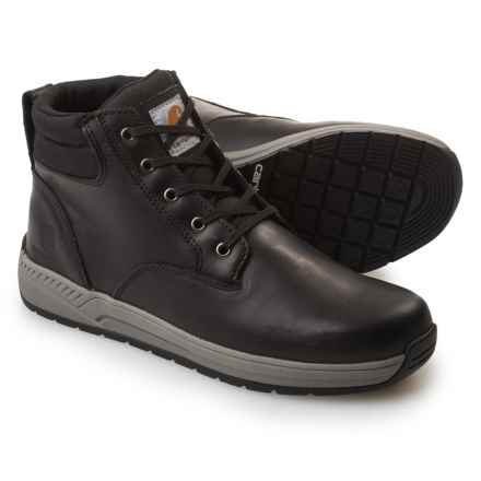 "Carhartt Lightweight Wedge Work Boots - Leather, 4"" (For Men) in Black - Closeouts"