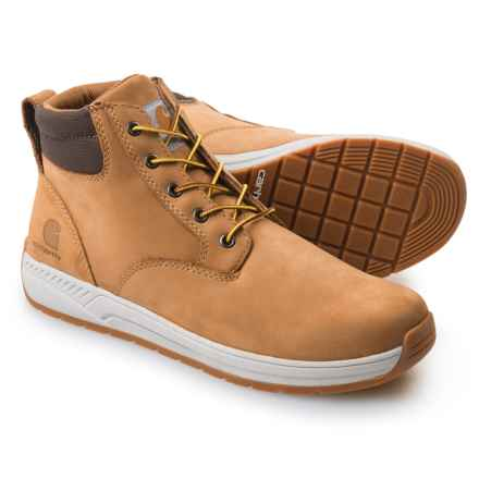 "Carhartt Lightweight Wedge Work Boots - Leather, 4"" (For Men) in Wheat - Closeouts"