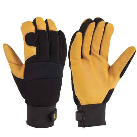 Carhartt Lined-Deerskin Work Gloves (For Men and Women) in Black/Gold - Closeouts