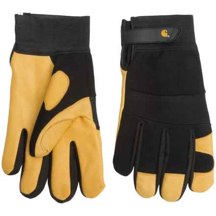 Carhartt Lined-Deerskin Work Gloves (For Men and Women) in Black Gold - Closeouts