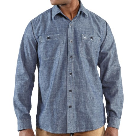 Carhartt Linwood Solid Work Shirt - Slim Fit, Long Sleeve (For Men) in Light Chambray