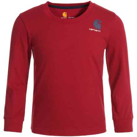 Carhartt Live On the Water Graphic T-Shirt - Long Sleeve (For Toddler Boys) in Red - Closeouts