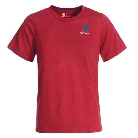 Carhartt Live On the Water Graphic T-Shirt - Short Sleeve (For Big Boys) in Chili Pepper - Closeouts