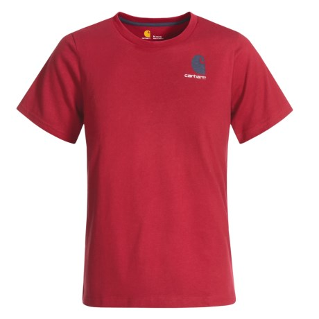 Carhartt Live on the Water T-Shirt - Short Sleeve (For Little Boys) in Chili Pepper