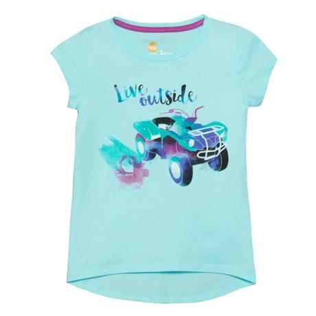 Carhartt Live Outside T-Shirt - Short Sleeve (For Little Girls) in Light Aqua