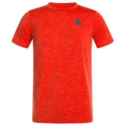 Carhartt Live to Hunt Force T-Shirt - Short Sleeve (For Big Boys) in Fiery Red Heather - Closeouts