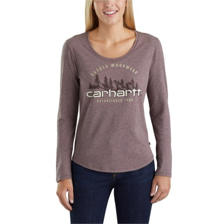 d654f8e21 Carhartt Lockhart Graphic Rugged Workwear T-Shirt - Long Sleeve (For Women)  in
