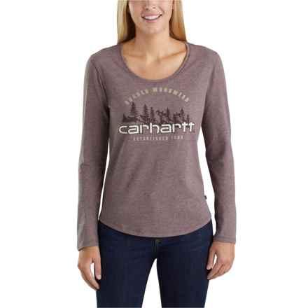 f039ffc3 Carhartt Lockhart Graphic Rugged Workwear T-Shirt - Long Sleeve (For Women)  in