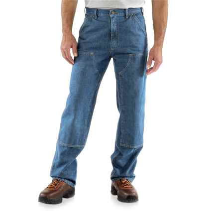 Carhartt Logger Jeans - Double Knees, Factory Seconds (For Men) in Darkstone - 2nds