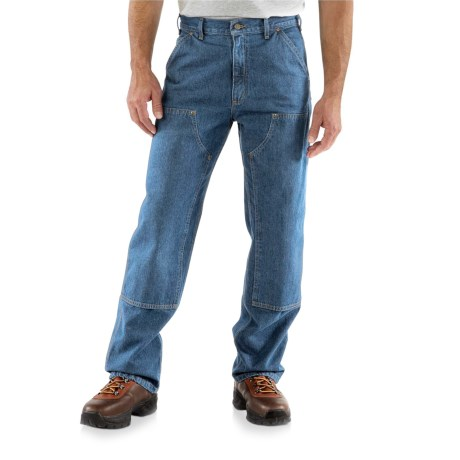 Carhartt Logger Jeans - Double Knees, Factory Seconds (For Men) in Darkstone