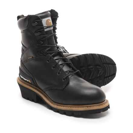 "Carhartt Logger Work Boots - Waterproof, 8"" (For Men) in Black - Closeouts"