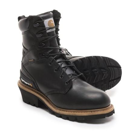 "Carhartt Logger Work Boots - Waterproof, 8"" (For Men) in Black"