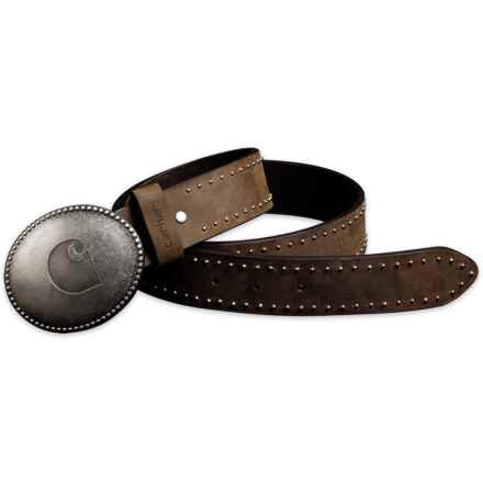 Carhartt Logo Belt - Leather (For Women) in Brown - Closeouts