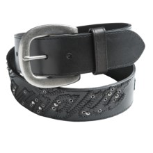 Carhartt Logo Patch Belt - Leather (For Women) in Black - Closeouts