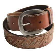 Carhartt Logo Patch Belt - Leather (For Women) in Brown - Closeouts