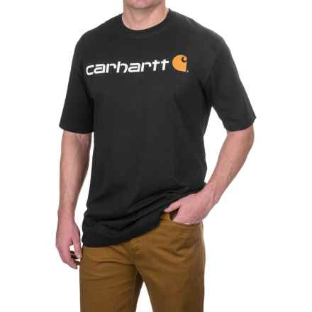 Carhartt Logo T-Shirt - Short Sleeve, Factory Seconds (For Big and Tall Men) in Black - 2nds