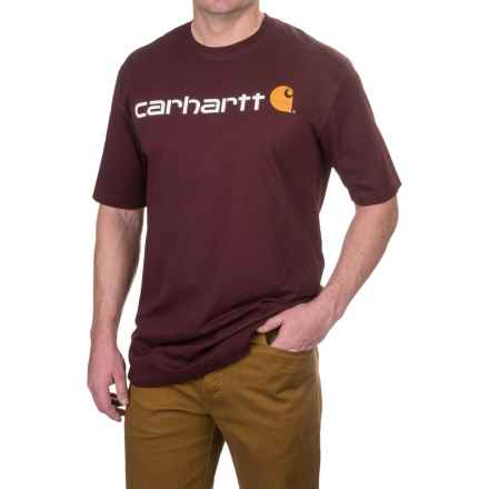 Carhartt Logo T-Shirt - Short Sleeve, Factory Seconds (For Big and Tall Men) in Port - 2nds