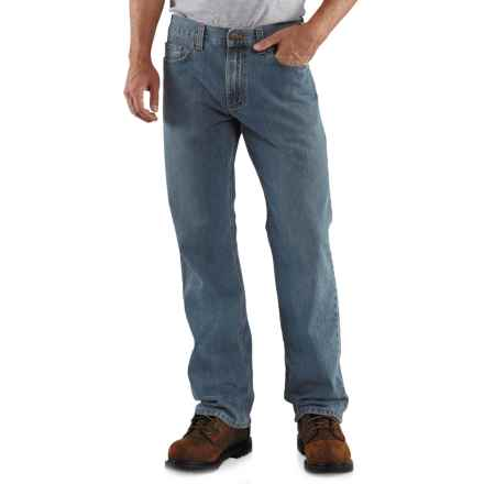 Carhartt Loose Fit Jeans - Straight Leg, Factory Seconds (For Men) in Light Worn In Blue - 2nds