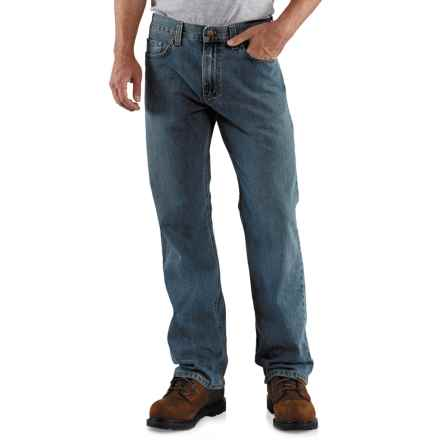 Carhartt Loose Fit Jeans - Straight Leg (For Men) in Worn In Blue - 2nds