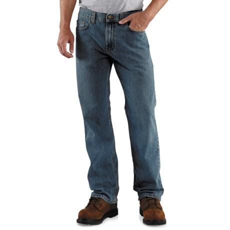 Carhartt Loose Fit Jeans - Straight Leg (For Men) in Worn In Blue