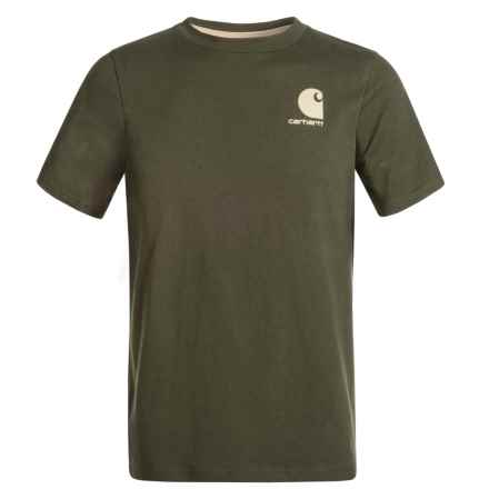 Carhartt Made for the Outdoors T-Shirt - Short Sleeve (For Big Boys) in Olive - Closeouts