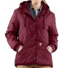 Carhartt Marlinton Jacket - Insulated (For Women) in Dark Red - Closeouts