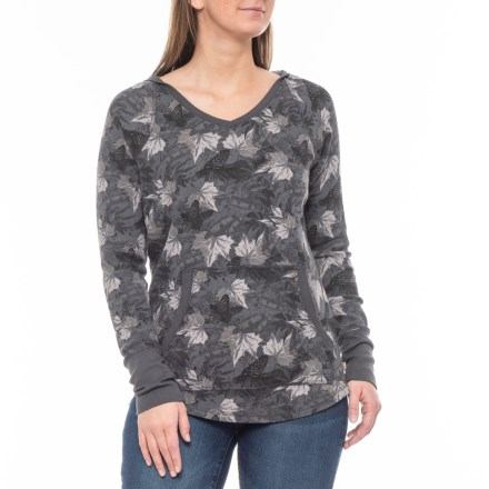 0a5b9229e Carhartt Meadow Printed Hoodie - V-Neck (For Women) in Asphalt - Closeouts