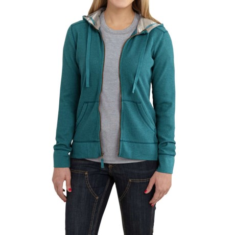 Carhartt Meadow Waffle-Knit Hoodie - Factory Seconds (For Women) in Teal Blue Heather