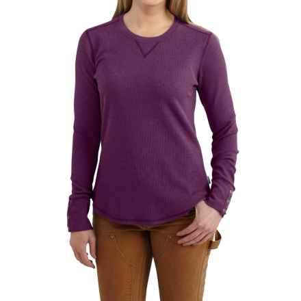 Carhartt Meadow Waffle-Knit T-Shirt - Long Sleeve, Factory Seconds (For Women) in Potent Purple Heather - 2nds