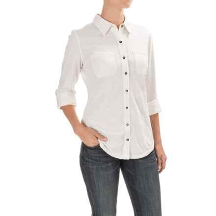 Carhartt Medina Shirt - Long Sleeve, Factory Seconds (For Women) in Marshmallow - 2nds