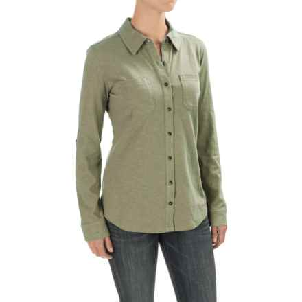 Carhartt Medina Shirt - Long Sleeve, Factory Seconds (For Women) in Moss - 2nds
