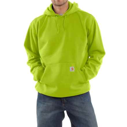 Carhartt Midweight Fleece Hoodie - Cotton Blend, Factory Seconds (For Big Men) in Sour Apple - 2nds
