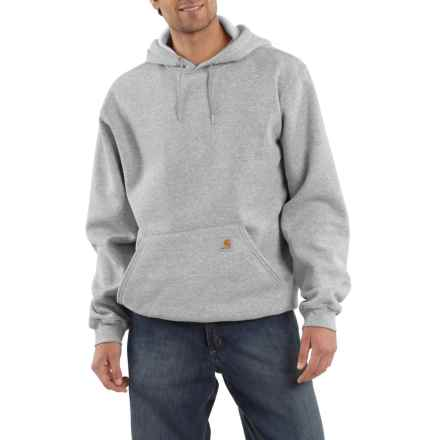 Carhartt Midweight Fleece Hoodie - Factory Seconds (For Big and Tall Men) in Heather Gray - 2nds