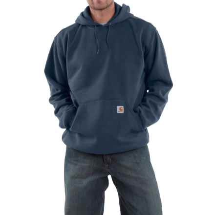Carhartt Midweight Fleece Hoodie - Factory Seconds (For Big and Tall Men) in New Navy - 2nds
