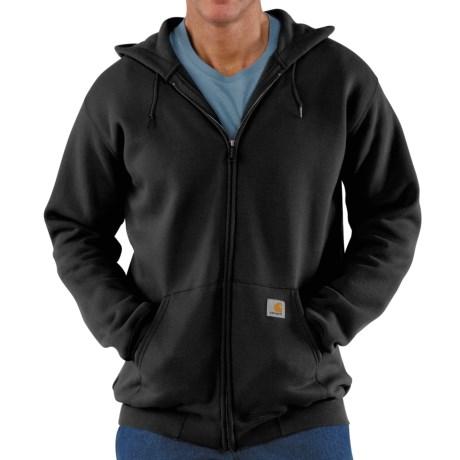 Carhartt Midweight Hooded Sweatshirt - Zip Front (For Tall Men) in Black