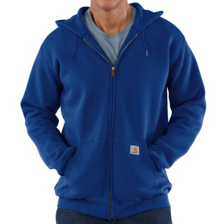 Carhartt Midweight Hooded Sweatshirt - Zip Front (For Tall Men) in Cobalt Blue
