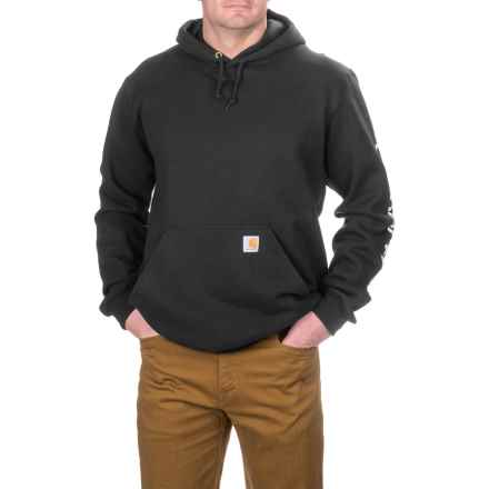Carhartt Midweight Hoodie - Factory Seconds (For Big and Tall Men) in Black - 2nds