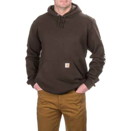 Carhartt Midweight Hoodie - Factory Seconds (For Big and Tall Men) in Dark Brown - 2nds