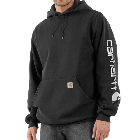 Carhartt Midweight Logo Hoodie - Factory Seconds (For Men) in Black
