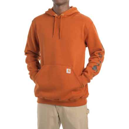 Carhartt Midweight Logo Hoodie - Factory Seconds (For Men) in Burnt Sienna - 2nds