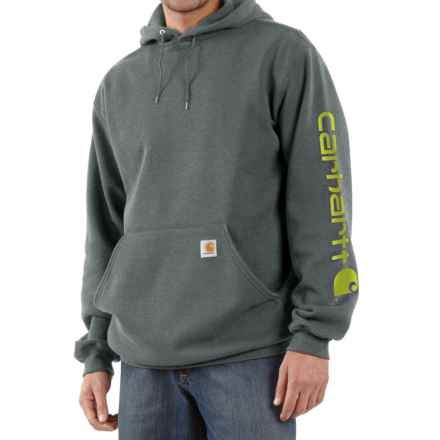 Carhartt Midweight Logo Hoodie - Factory Seconds (For Men) in Charcoal Heather - 2nds