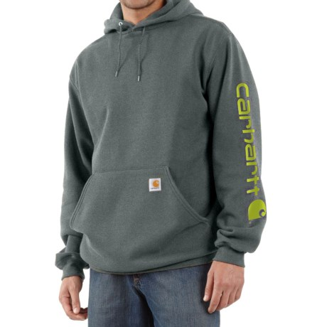 Carhartt Midweight Logo Hoodie - Factory Seconds (For Men) in Charcoal Heather