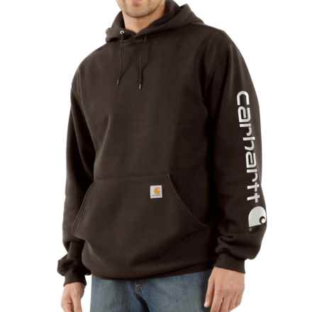 Carhartt Midweight Logo Hoodie - Factory Seconds (For Men) in Dark Brown - 2nds