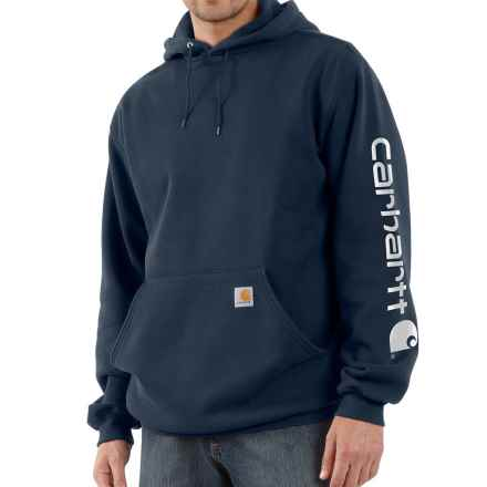 Carhartt Midweight Logo Hoodie - Factory Seconds (For Men) in New Navy - 2nds