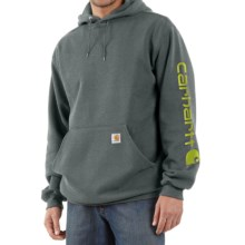 Carhartt Midweight Logo Hoodie (For Men) in Charcoal Heather - 2nds